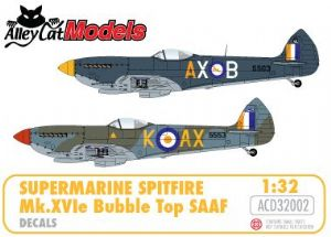 Spitfire Mk XVIe Bubble Top Decals, South African Air Force (SAAF)